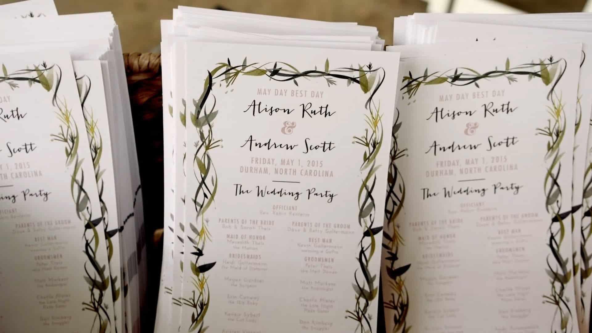 Pittsboro Wedding Video