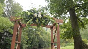 Creek Side Wedding Arbor