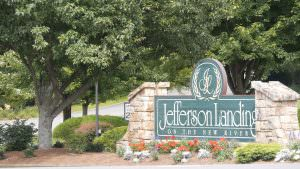 Jefferson Landing Club Sign
