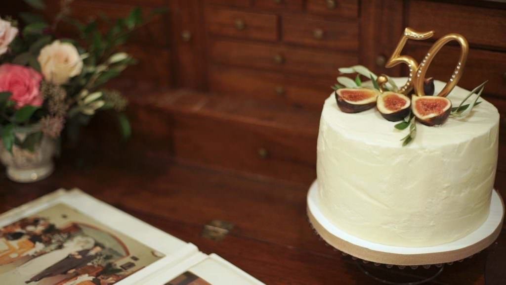 50 Anniversary Wedding Cake