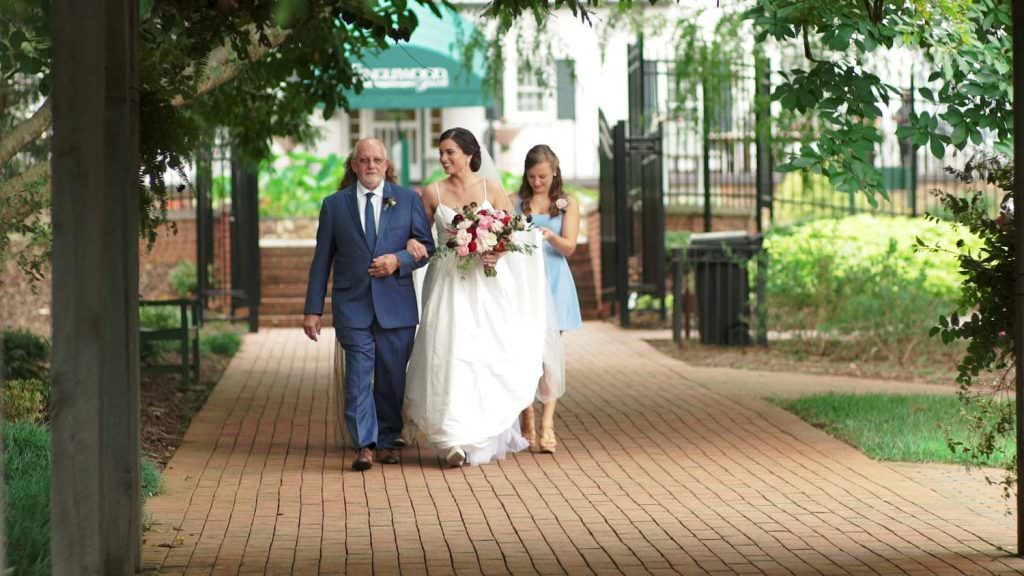 Bride and Grandfather Aisle