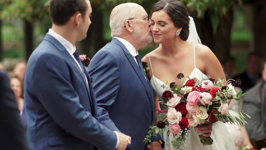 Grandfather Giving Away Bride