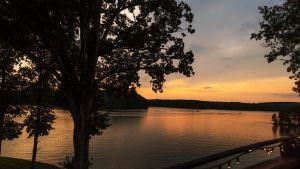 Lake Wedding Sunset