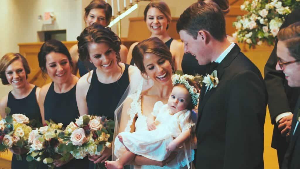 Baby Flower Girl at Wedding