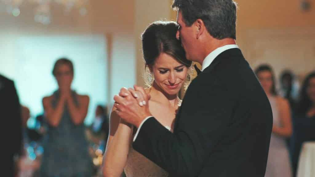 Bride and Father Emotional Dance