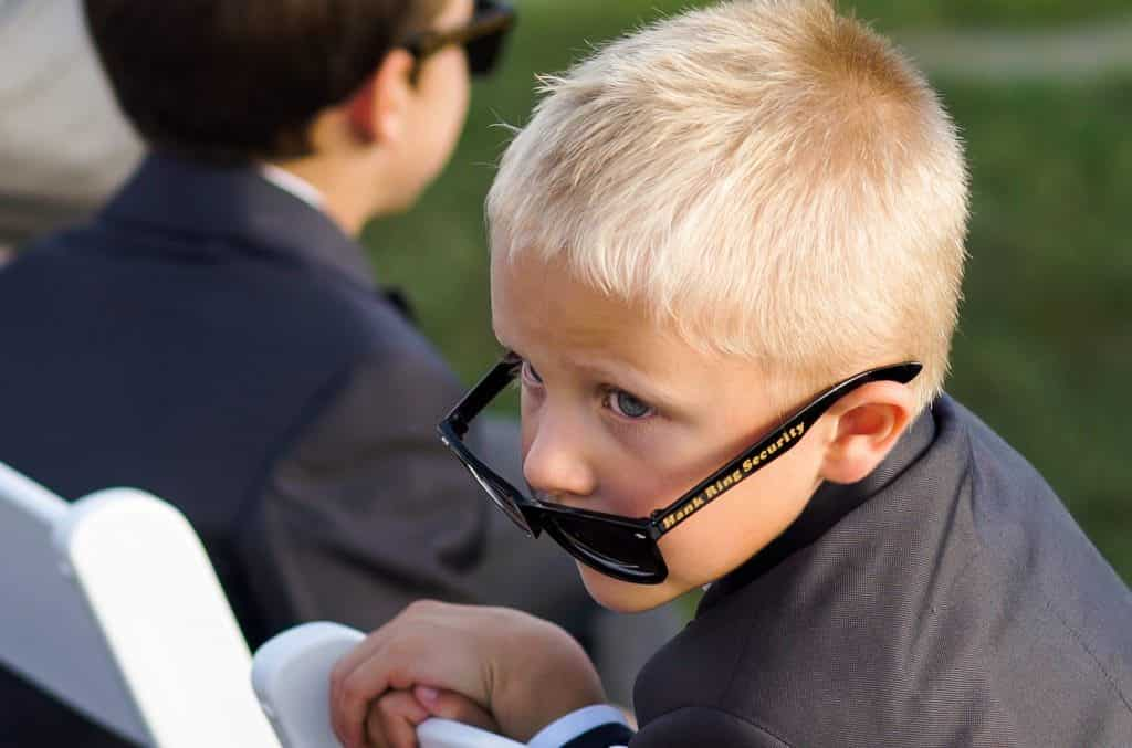 Children at Wedding with Sunglasses