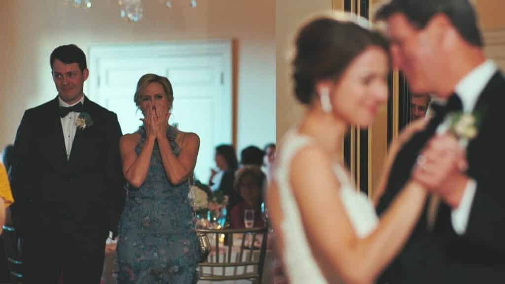 Father and Daughter Dance with Mother