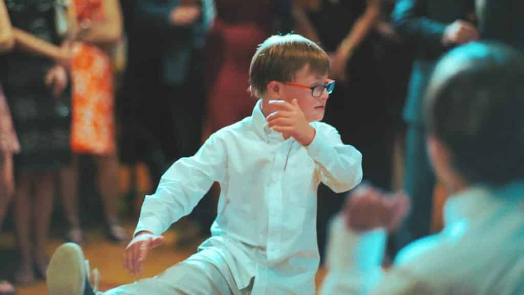 Kid Dancing at Wedding Reception