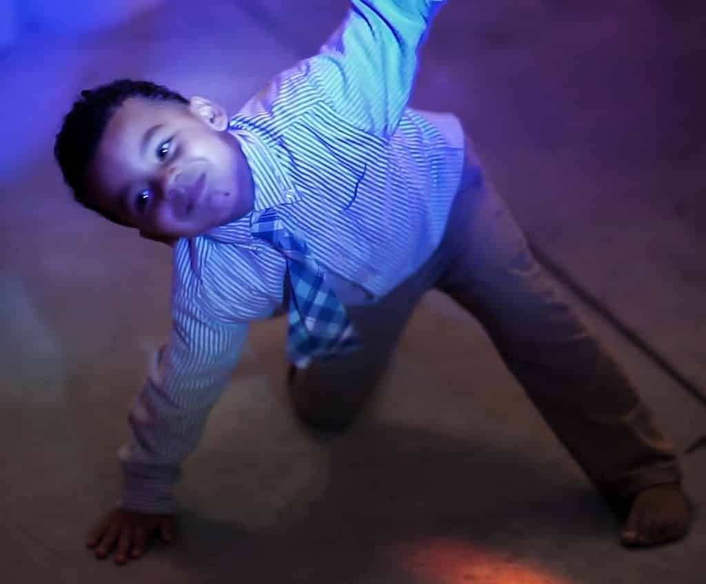 Kid at Wedding Dancing