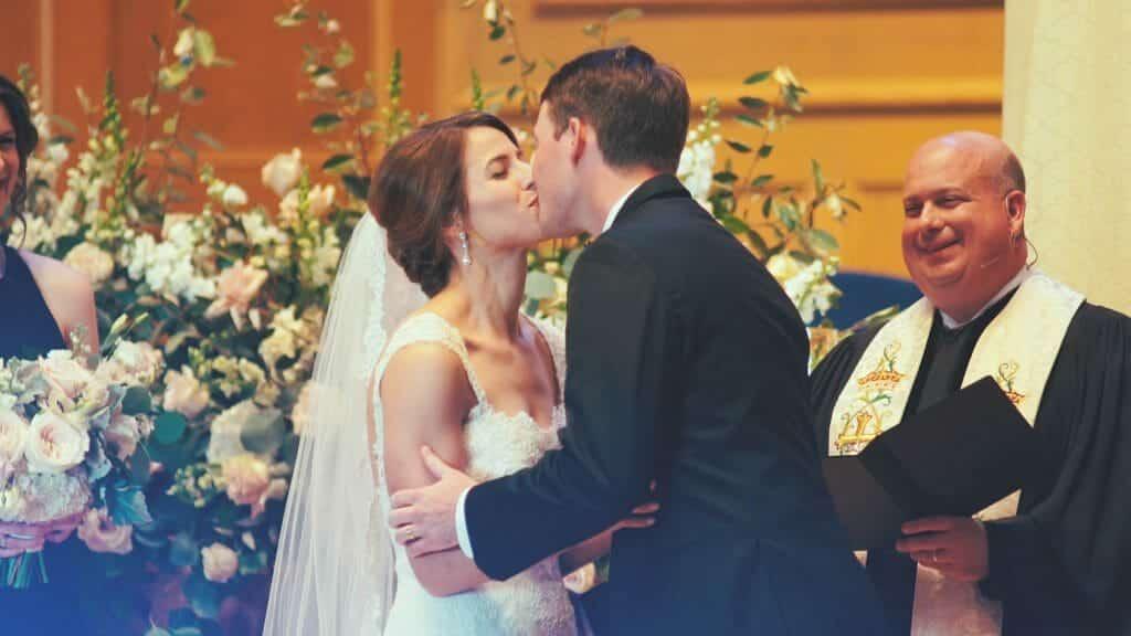 Winston-Salem Wedding First Kiss