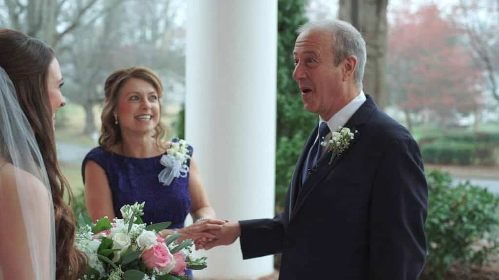 Dad Seeing Daughter Wedding