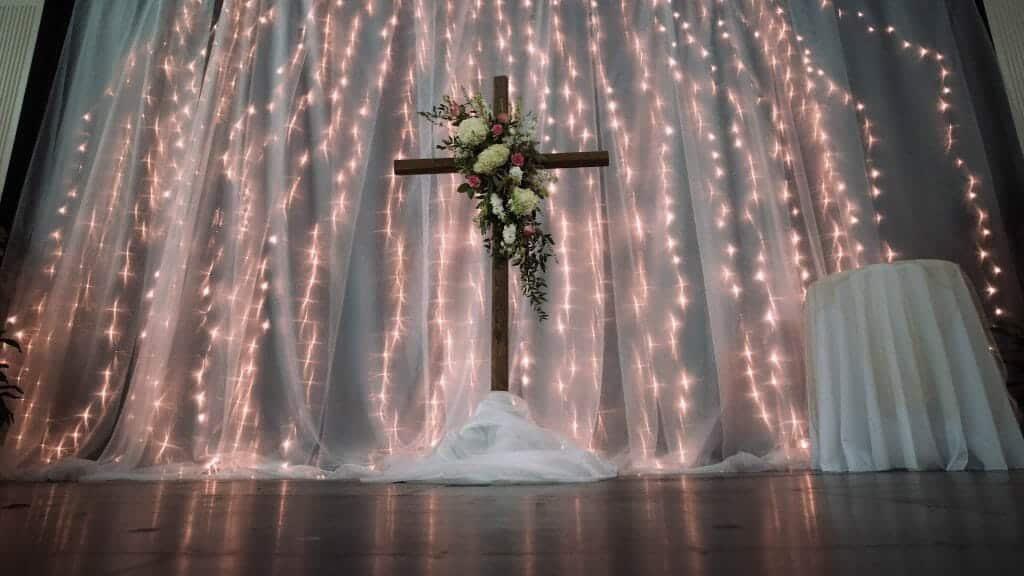Wedding Cross Altar Lights