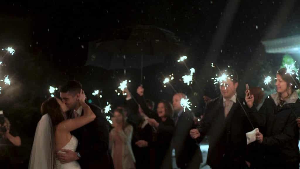 Wedding Exit Snow