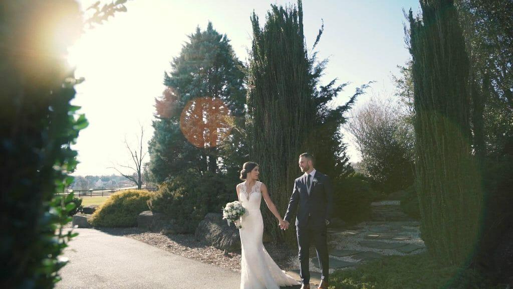 Bride and Groom Garden Walk