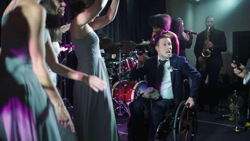 Wedding Reception Wheelchair Dancing