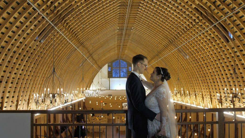 Winmock Barn Bride and Groom