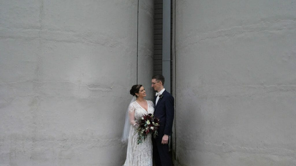 Winmock Silo Bride and Groom
