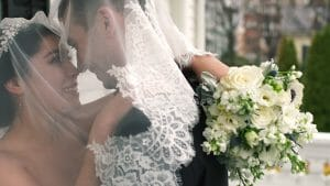 Bride and Groom Veil