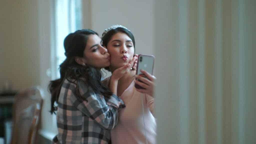 Bride Selfie With Sister