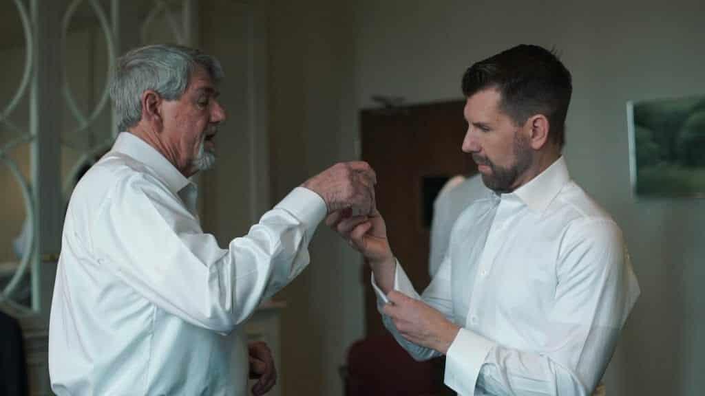 Gay Wedding Groom Prep