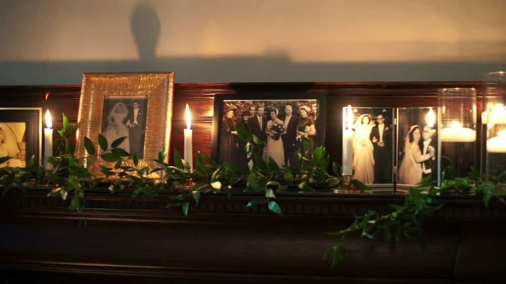 Reception Mantle Decor
