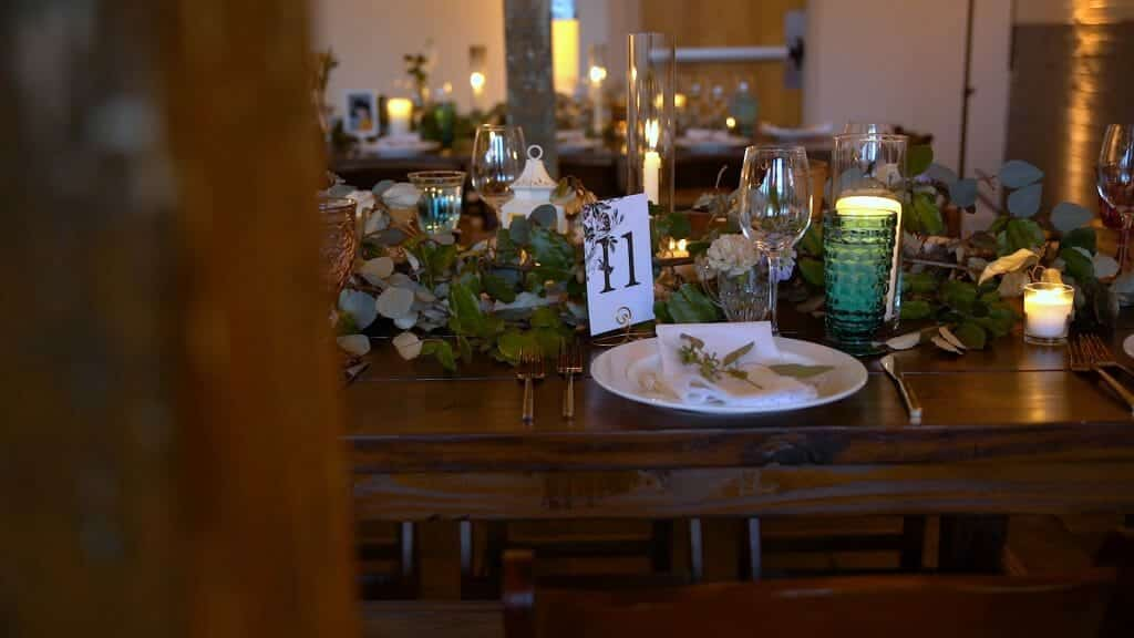 Beautiful Wood Table at Reception