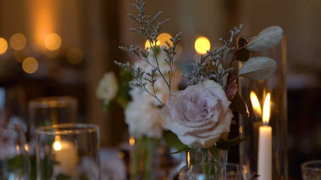 Flowers and Candles at Reception