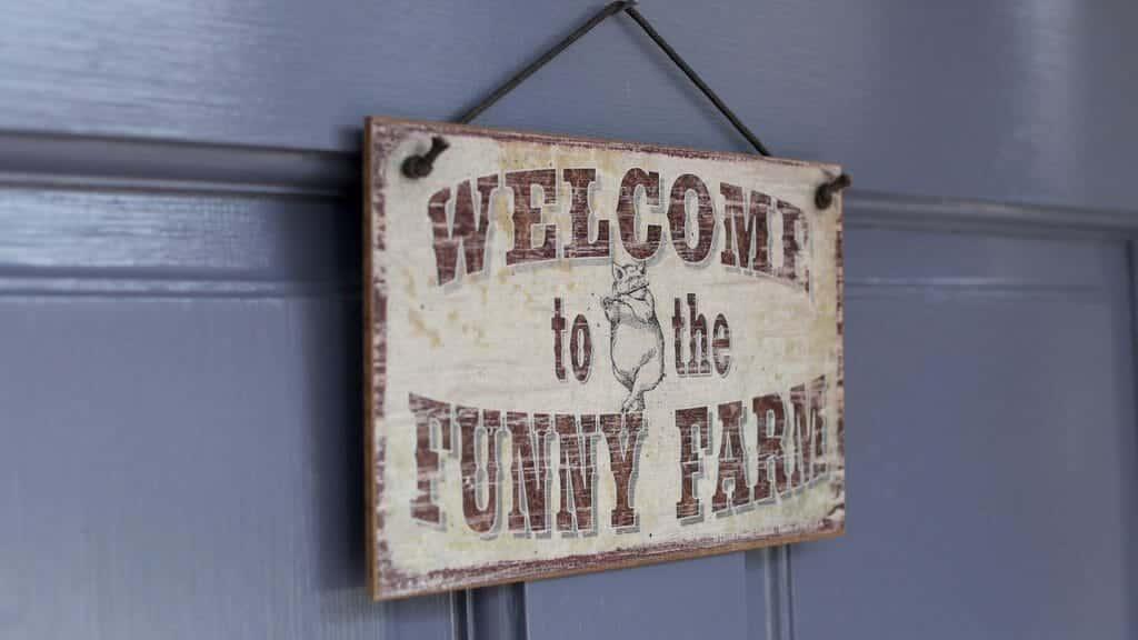 Funny Farm Sign