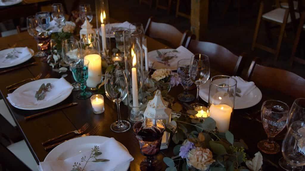 Wedding Reception Glassware