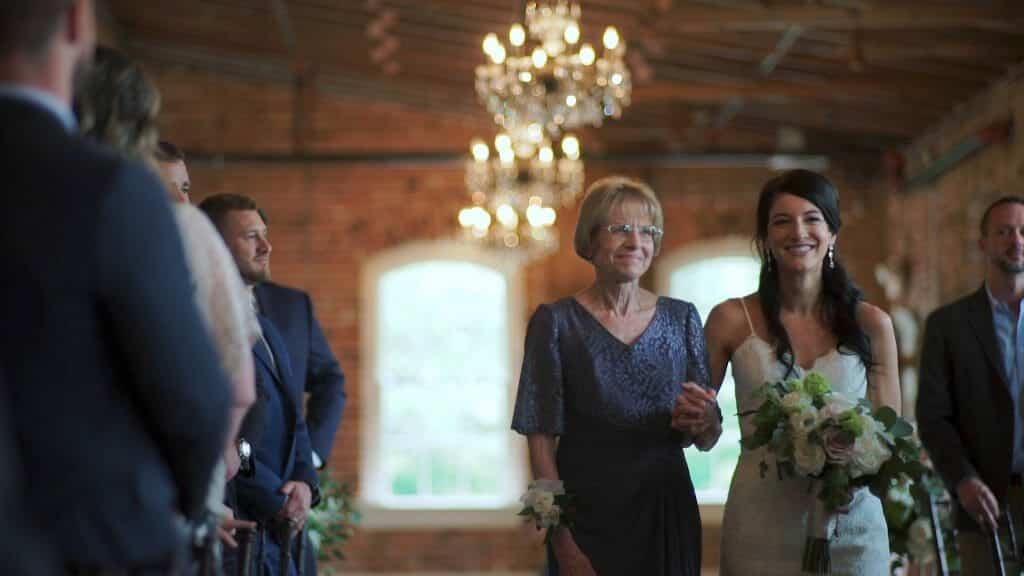 Mother of Bride Walking Down Aisle