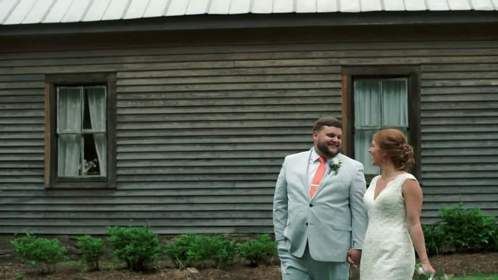 Chapel Hill Carriage House Bride and Groom