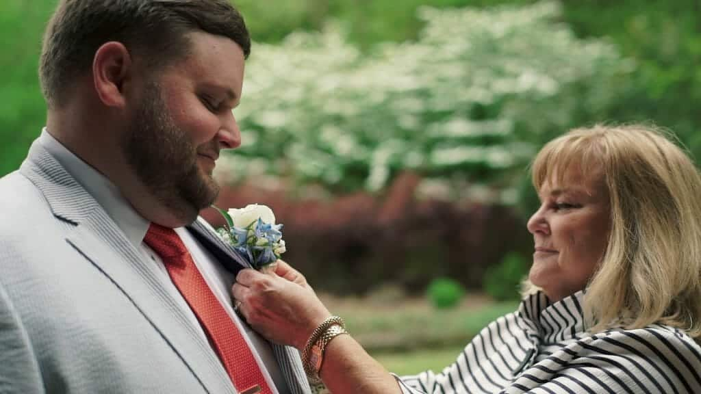 Mother and Groom Boutonniere