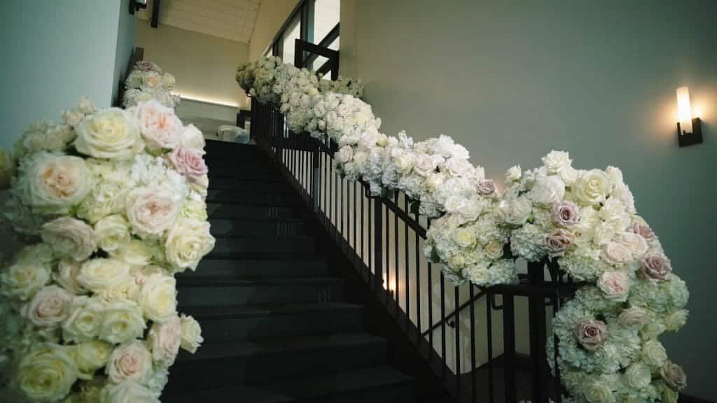 Stunning Staircase Florals