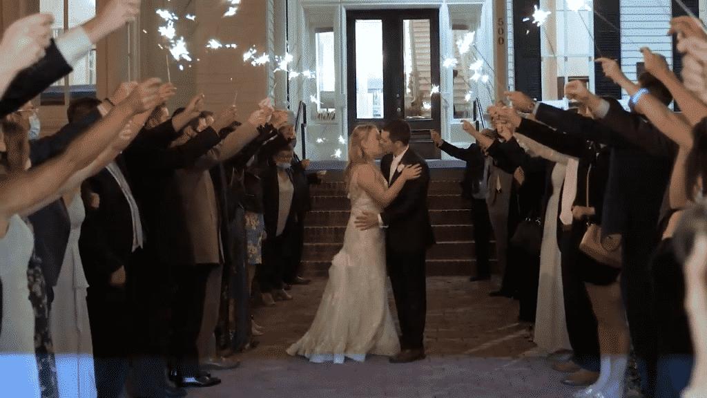 sparkler exit raleigh wedding video